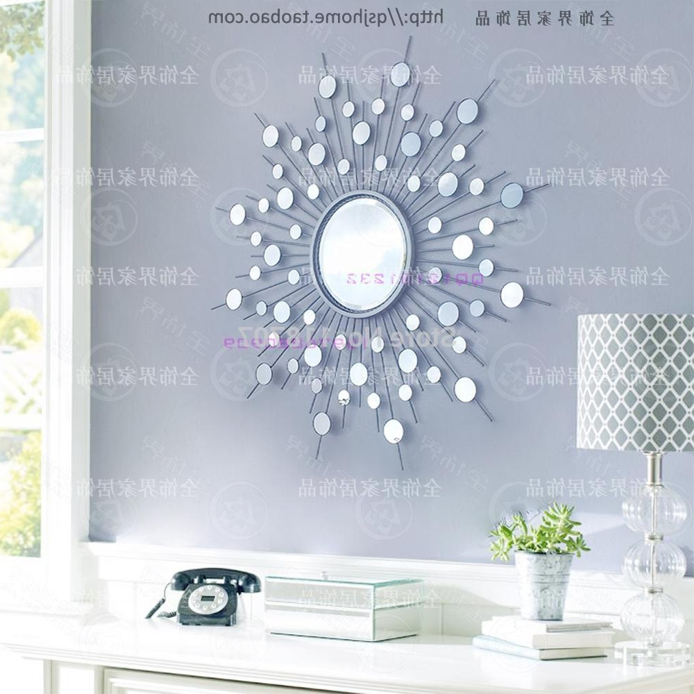 Metal Wall Mirror Decor Modern Mirrored Wall Art Wire Wall Art Intended For Preferred Wire Wall Art Decors (View 2 of 15)