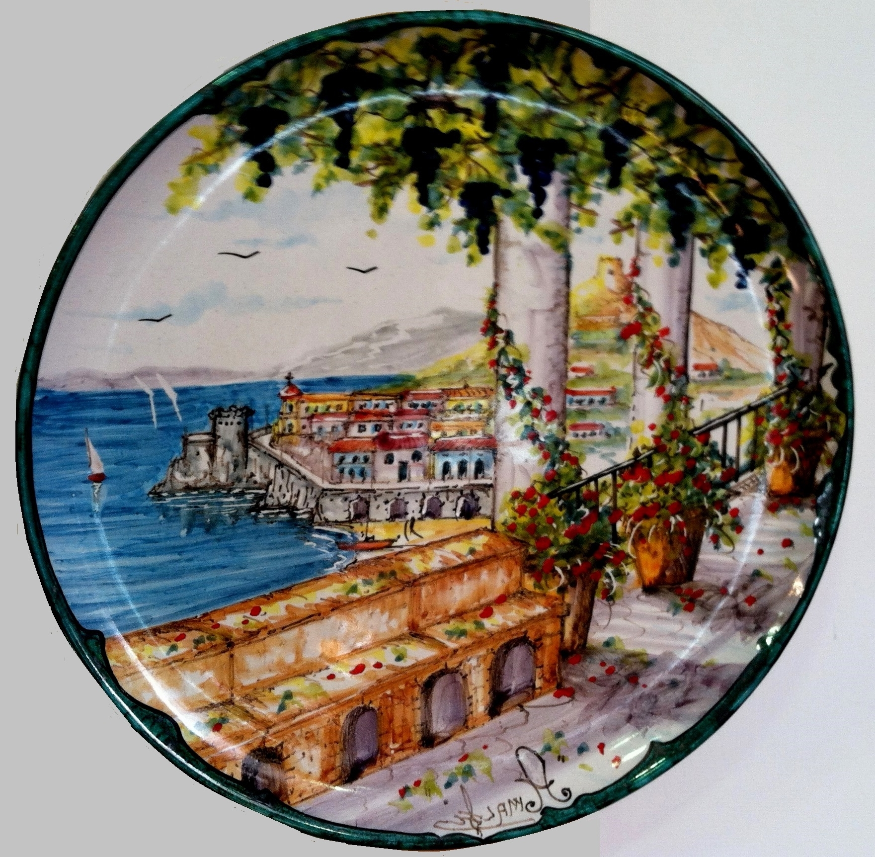 Midnight Italian Plates Wall Art For Most Recently Released Decorative Wall Plates Archives – Italian Decorative Arts (View 5 of 15)
