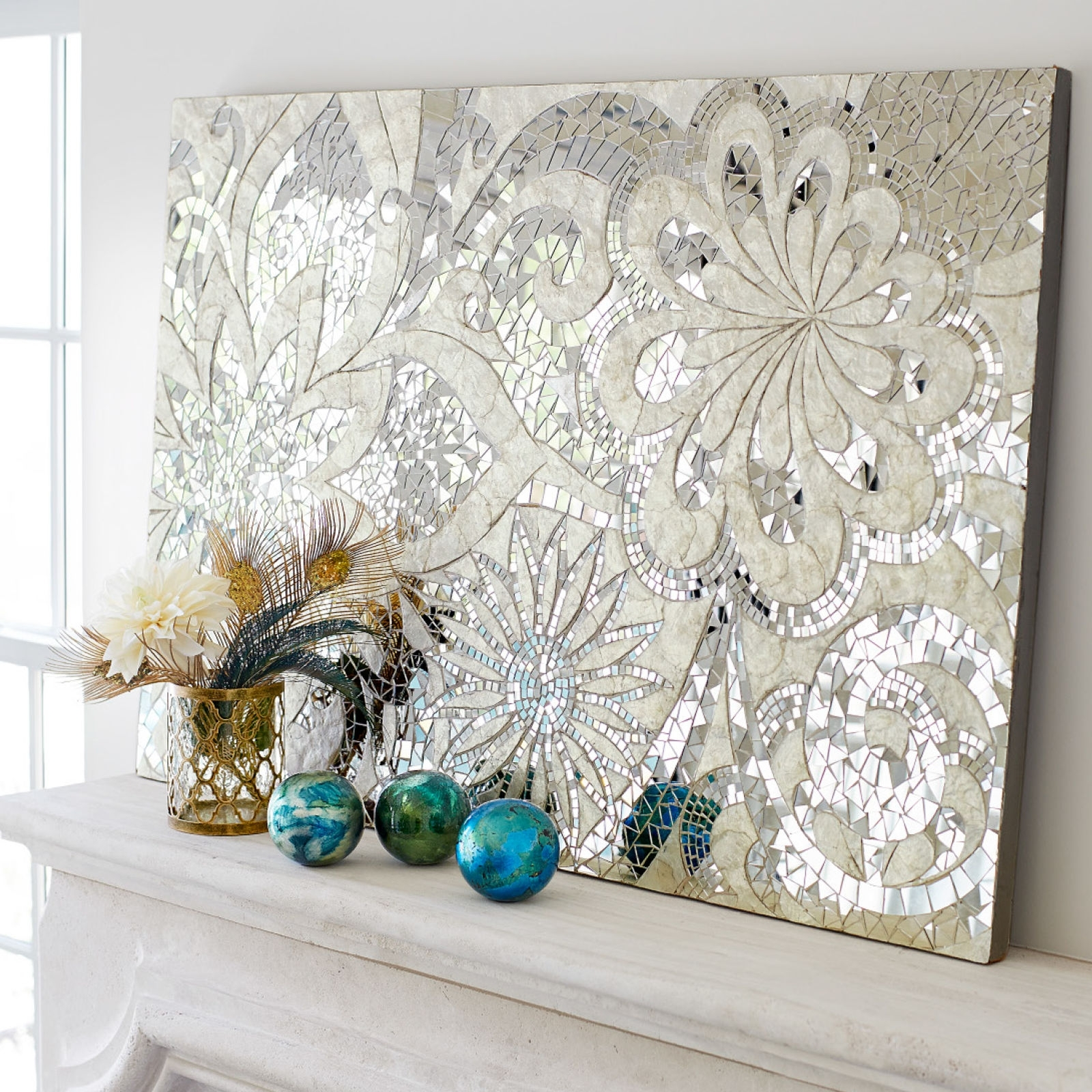 Mirror Tiles, Indonesia And Mosaics Throughout Glamorous Mother Of Pearl Wall Art (View 10 of 15)