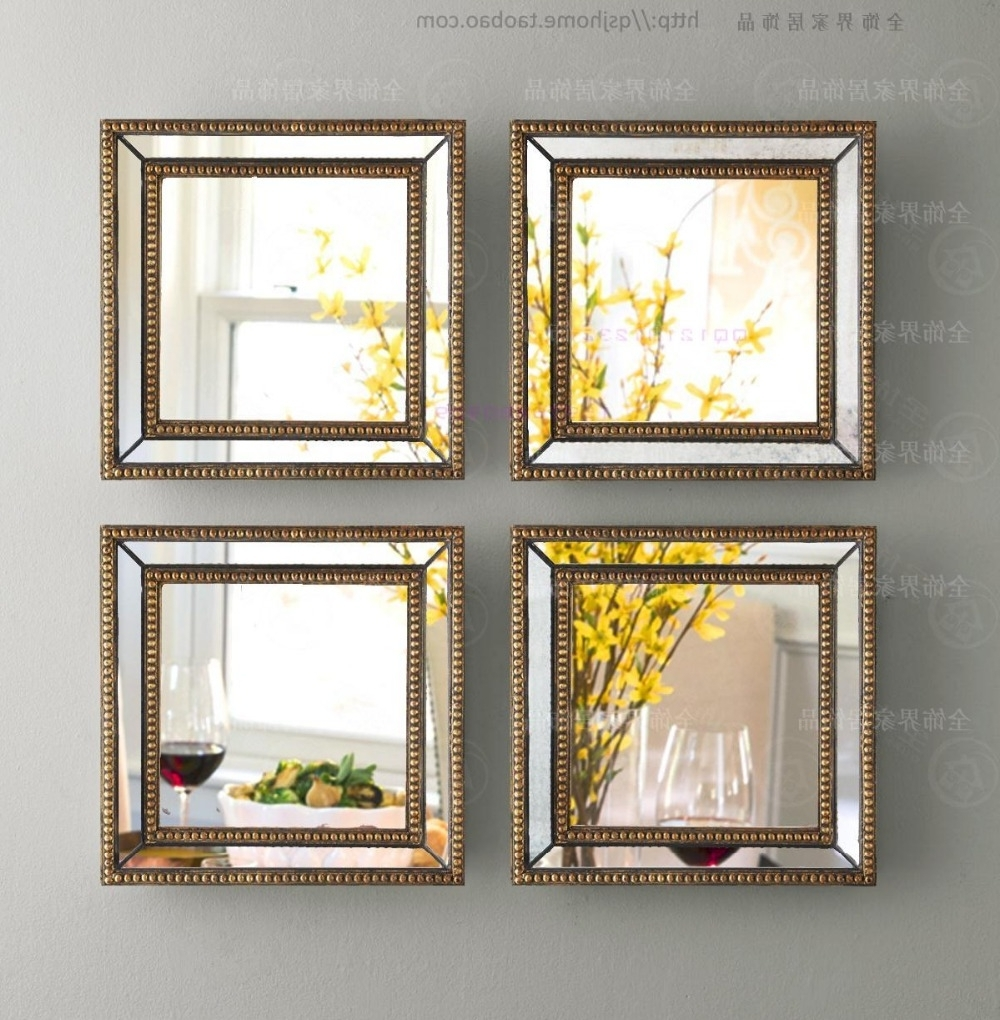 Mirrored Frame Wall Art With Popular Mirrored Wall Decor Fretwork Square Wall Mirror Framed Wall Art (View 12 of 15)