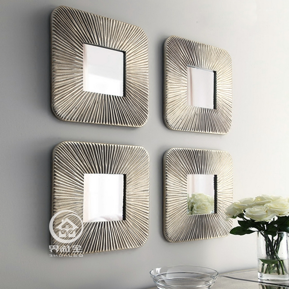 Mirrored Wall Decor Fretwork Square Wall Mirror Framed Wall Art In Most Current Mirrored Frame Wall Art (View 6 of 15)
