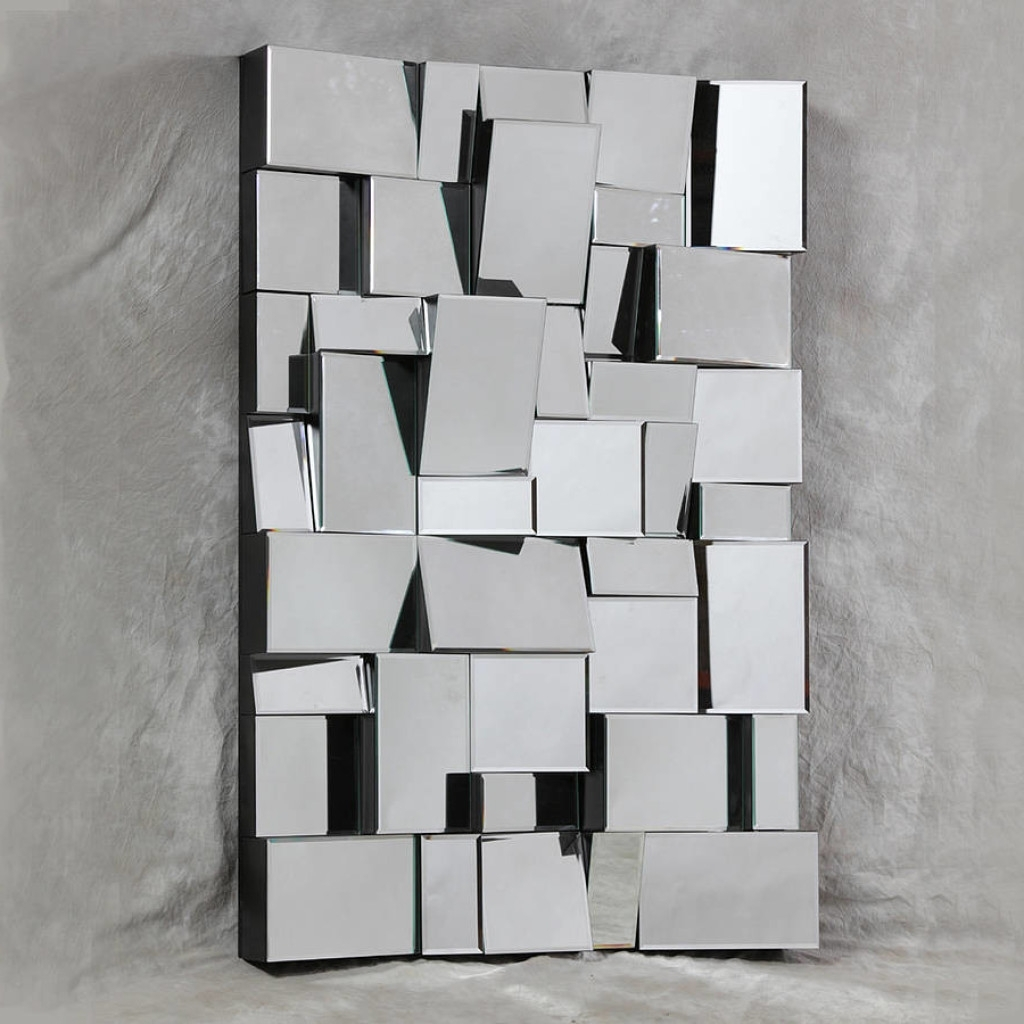 Mirrors As Wall Art With Most Recent Modern Mirrored Wall Art (View 5 of 15)