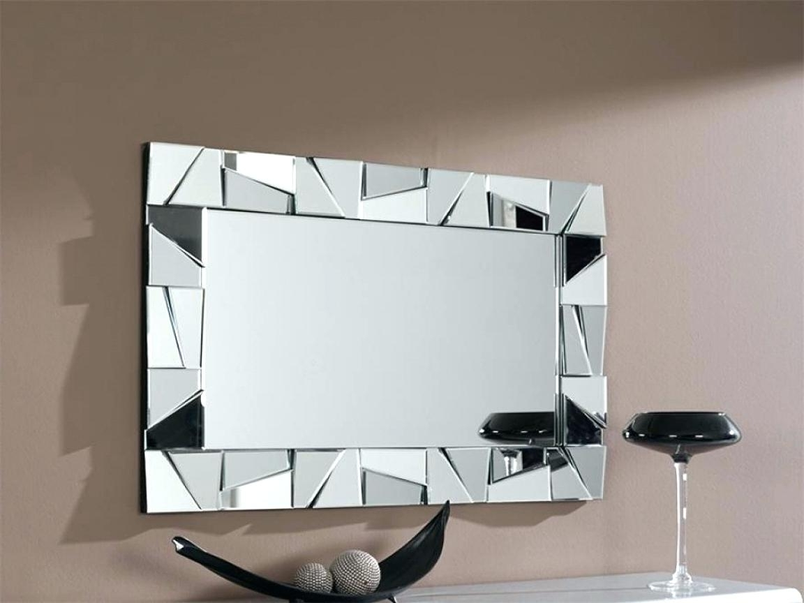 Mirrors Modern Wall Art In Famous Metal Wall Decor With Mirrors Mirrored Mirror Modern Full Size Of (View 8 of 15)