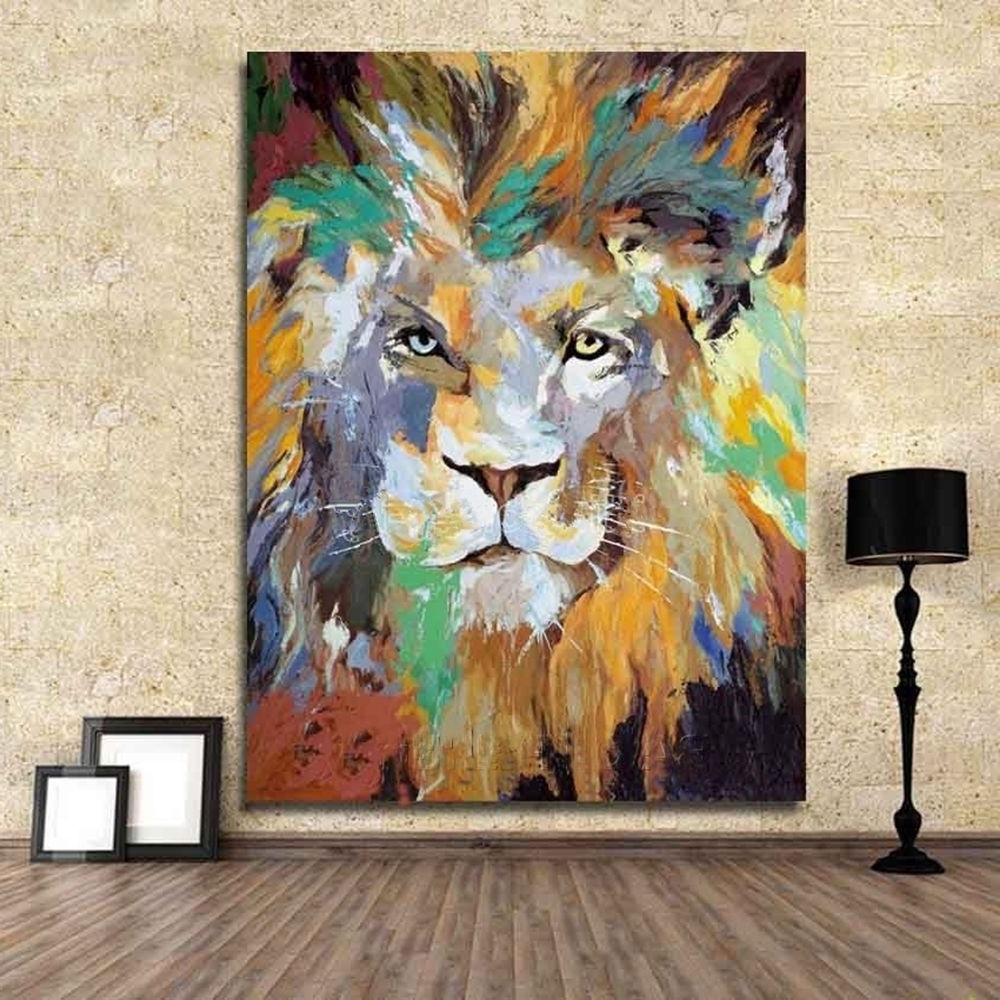 [%Modern 100% Hand Painted Abstract Oil Painting Art Deco On Canvas Pertaining To Favorite Abstract Lion Wall Art|Abstract Lion Wall Art Inside 2017 Modern 100% Hand Painted Abstract Oil Painting Art Deco On Canvas|Most Popular Abstract Lion Wall Art Throughout Modern 100% Hand Painted Abstract Oil Painting Art Deco On Canvas|Most Popular Modern 100% Hand Painted Abstract Oil Painting Art Deco On Canvas Throughout Abstract Lion Wall Art%] (View 10 of 15)