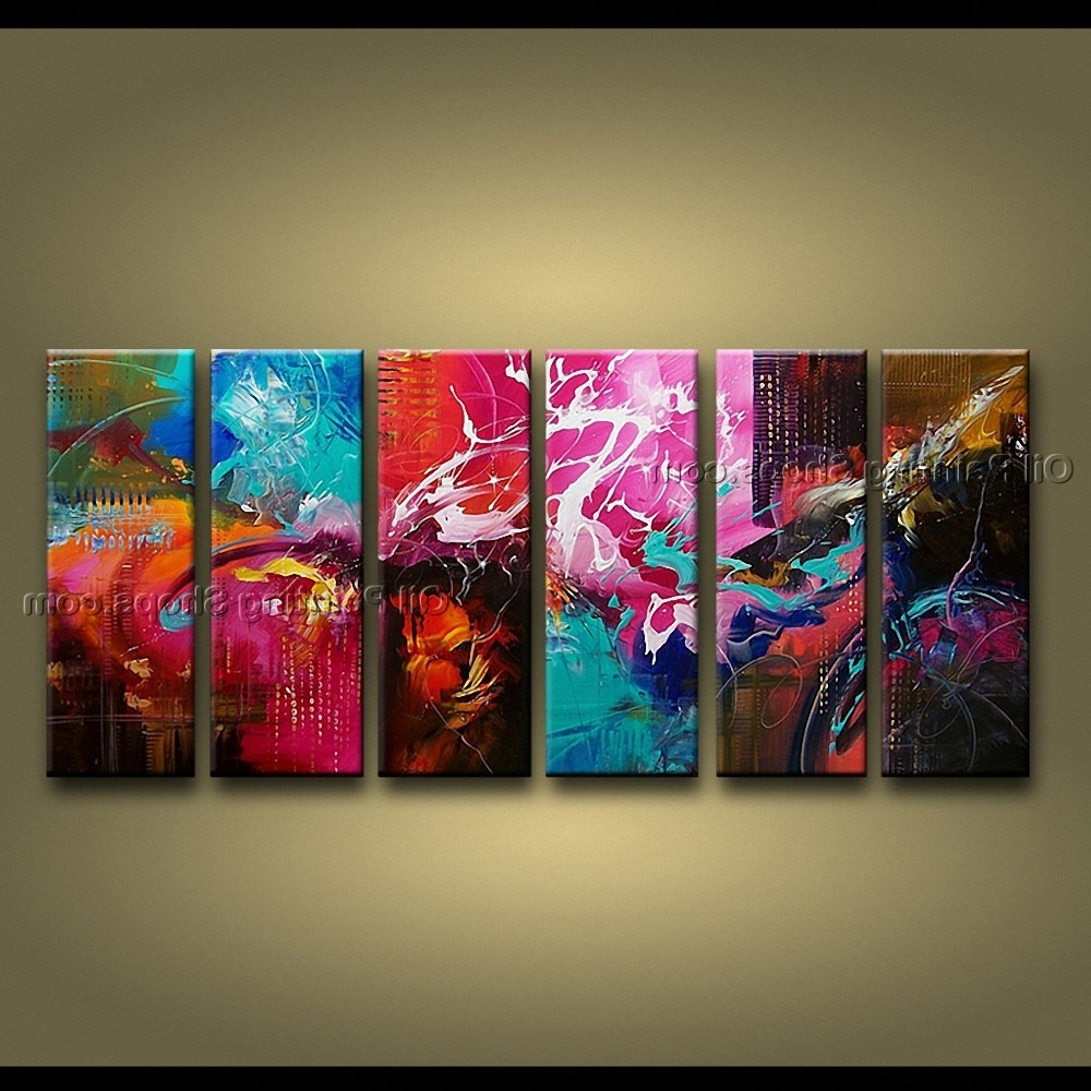 Modern Abstract Huge Oil Painting Wall Art In Most Recently Released Artcrafts Huge Modern Abstract Painting Wall Art Oil On Canvas (View 8 of 15)