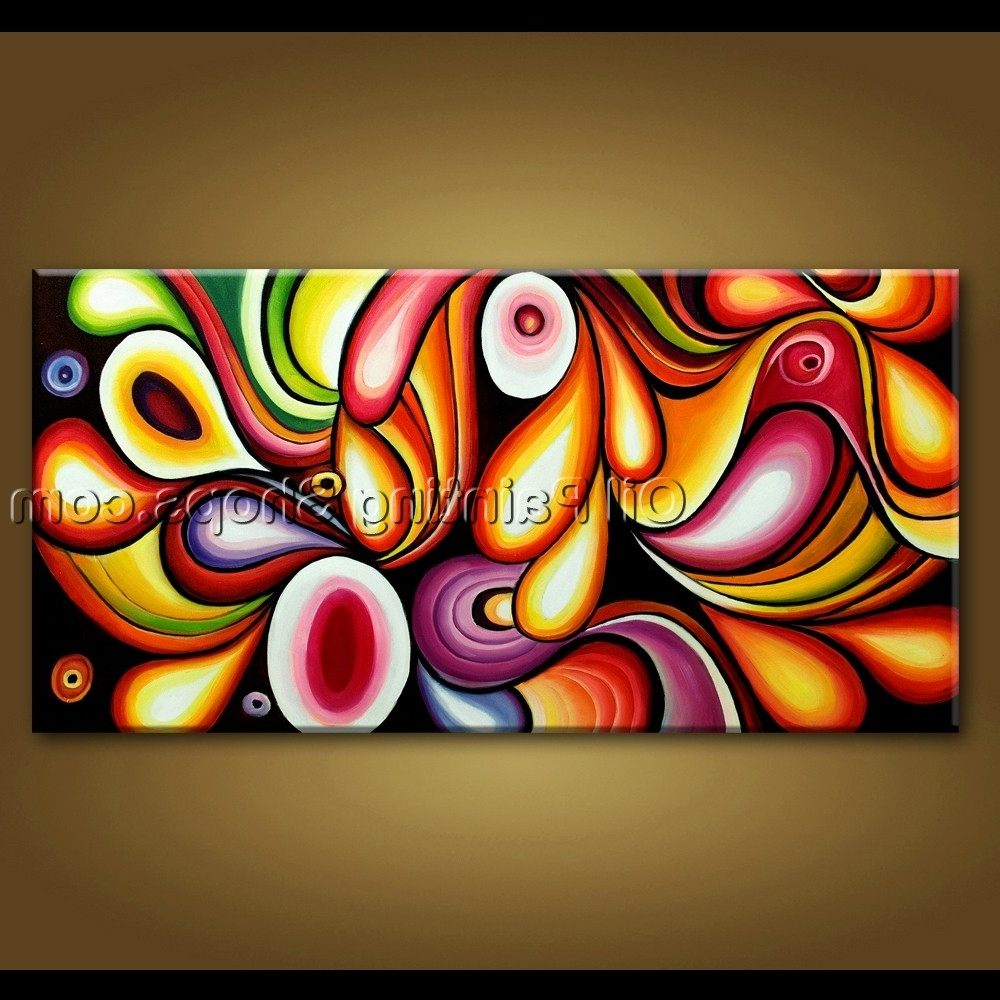 Modern Abstract Oil Painting Wall Art In Latest Large Wall Art Original Modern Abstract Oil Painting On Canvas Unique (View 5 of 15)