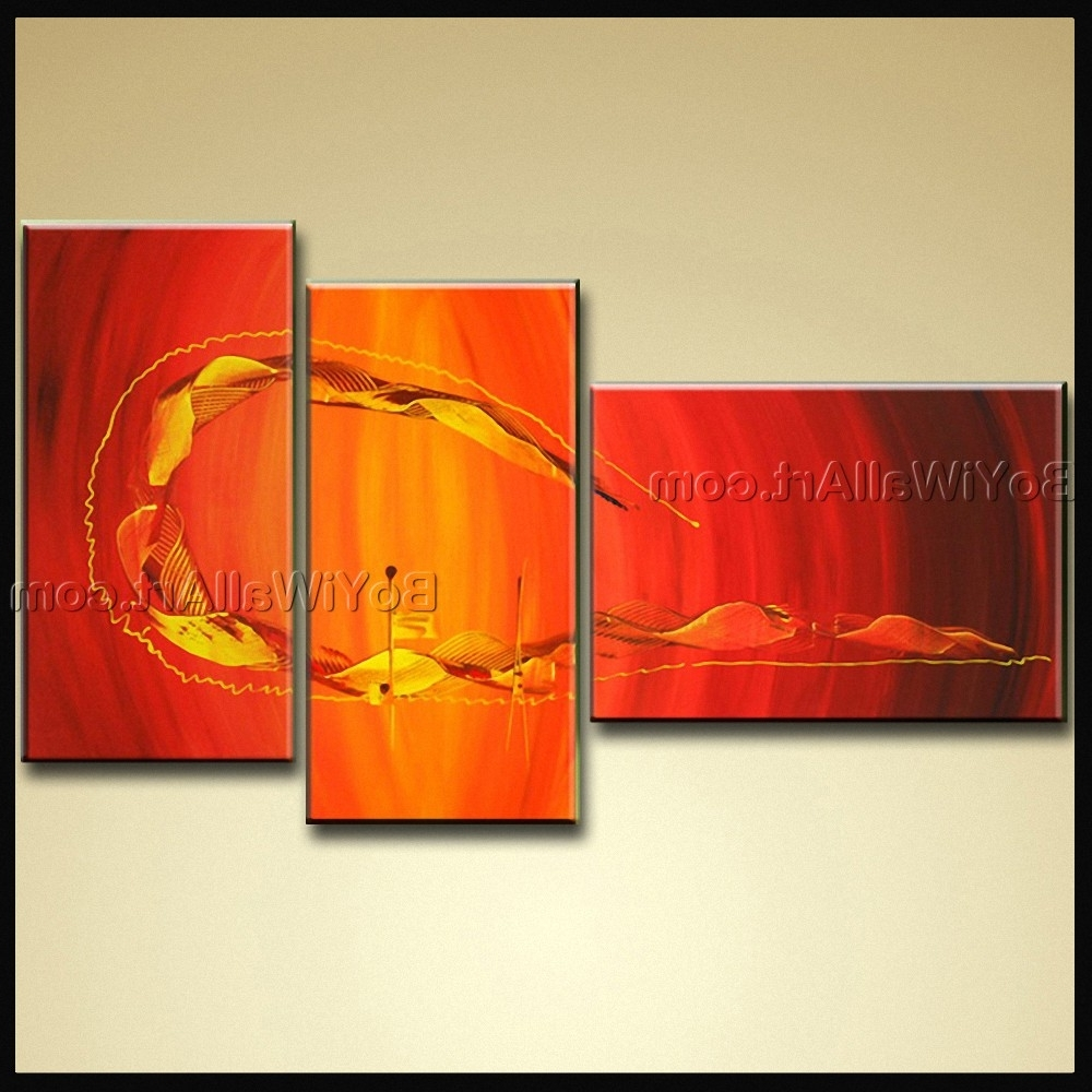 Modern Abstract Oil Painting Wall Art Throughout Recent Hand Painted Oil Painting On Canvas Modern Abstract Wall Art (View 7 of 15)
