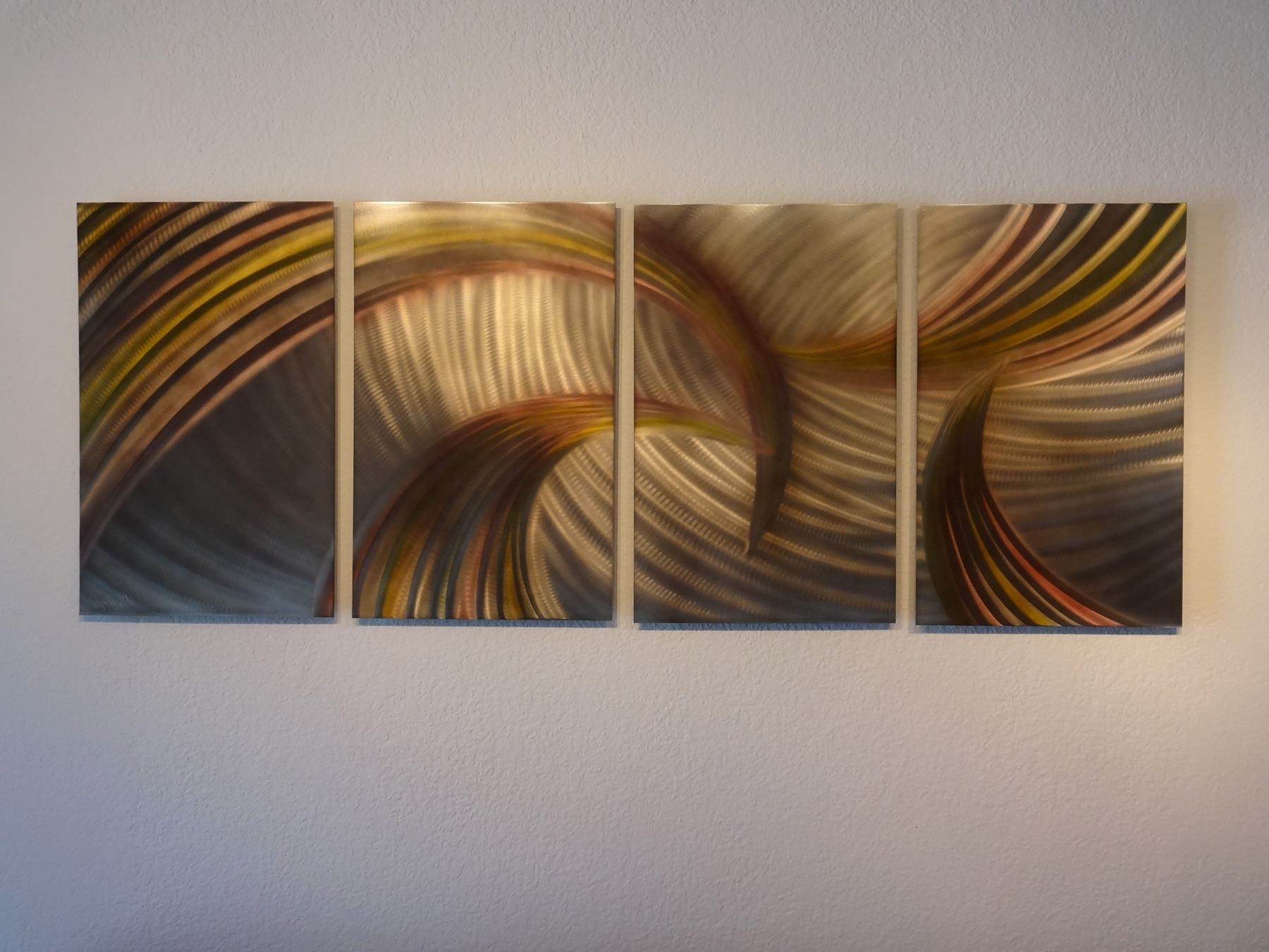 Modern Abstract Wall Art Intended For Most Current Tempest Bronze – Abstract Metal Wall Art Contemporary Modern Decor (View 12 of 15)