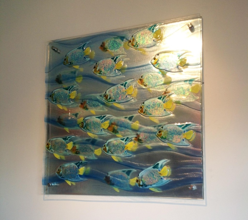 Modern Glass Wall Art Within Most Recently Released Wall Art: Give You Inspiration About Wall Art Glass Sea Glass Wall (View 5 of 15)