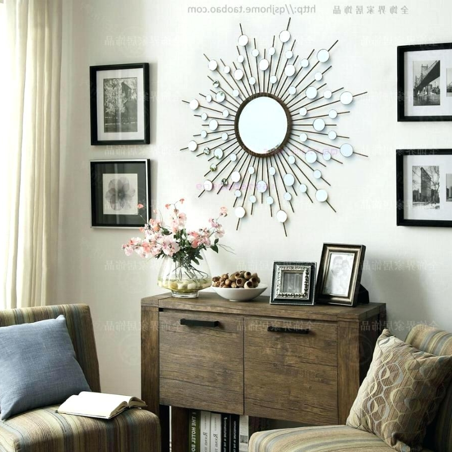 Modern Mirror Wall Art For Trendy Wall Mirrors ~ Modern Mirror Wall Art Sunburst Metal Wall Art Wire (View 6 of 15)