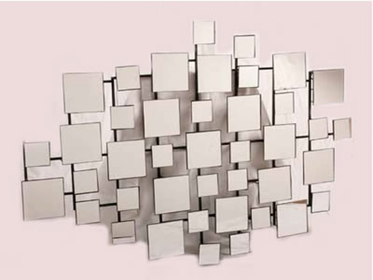 Modern Mirror Wall Art With Most Recent Wall Art Designs: Mirrored Wall Art Geometric Mirror Wall Art (View 13 of 15)