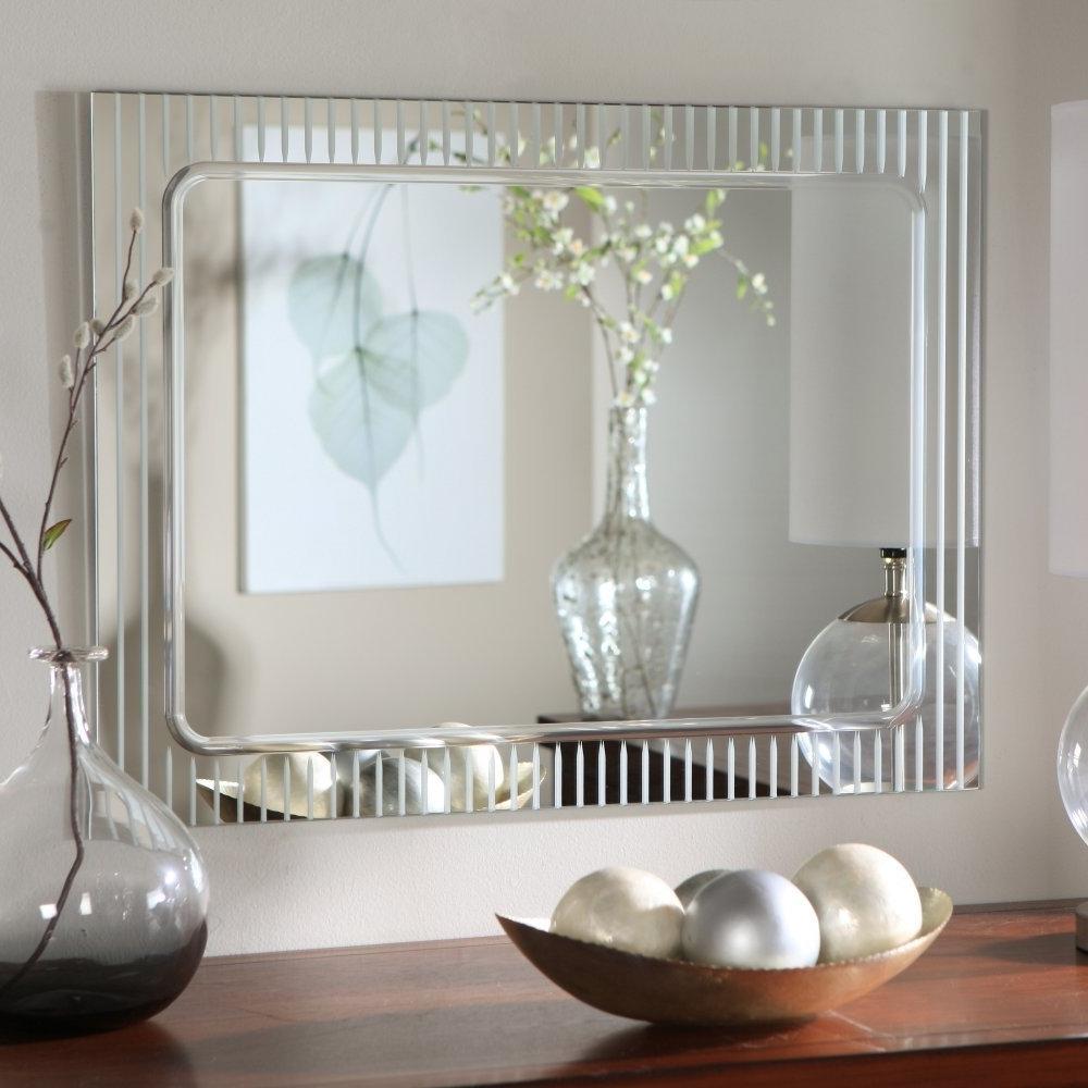 Modern Mirrored Wall Art Regarding 2018 Amazon: Frameless Wall Mirror: Home & Kitchen (View 15 of 15)