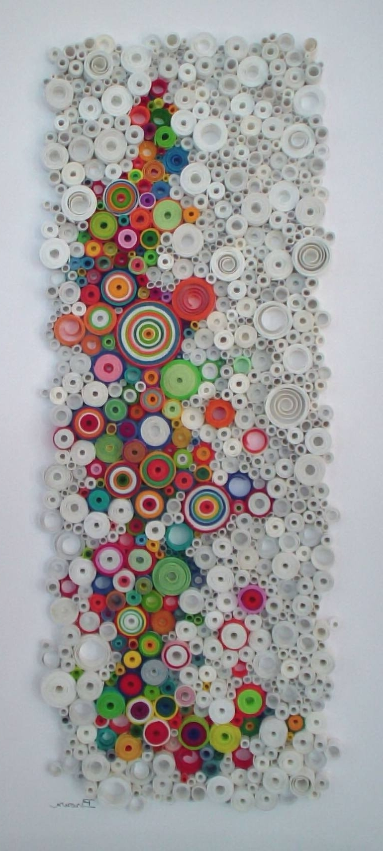 Modern Wall Art, Circular Wall Art, Original 3 Dimensional Paper With Regard To Trendy 3D Visual Wall Art (View 9 of 15)
