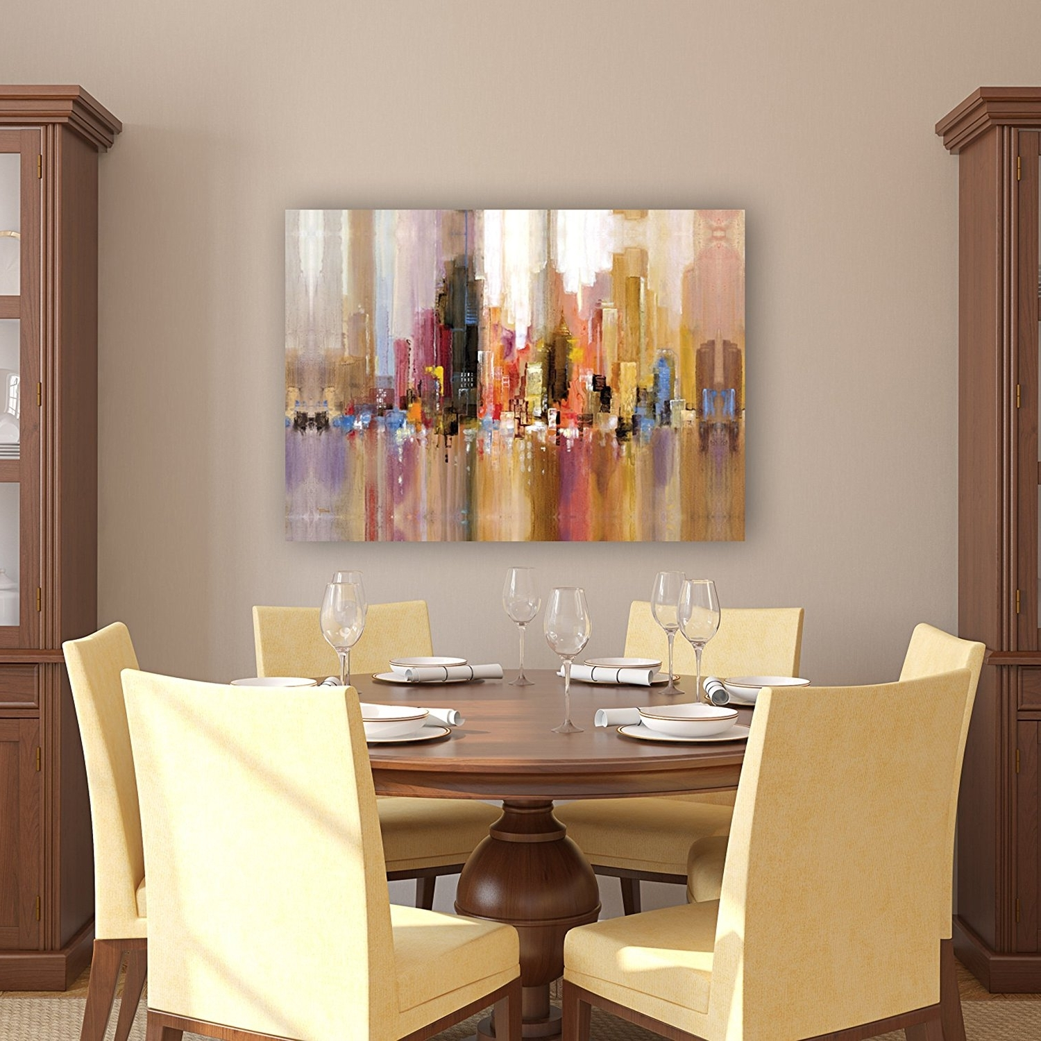 Modern Wall Art For Dining Room With Regard To Fashionable Amazon: Portfolio Canvas Decor Large Printed Canvas Wall Art (View 14 of 15)