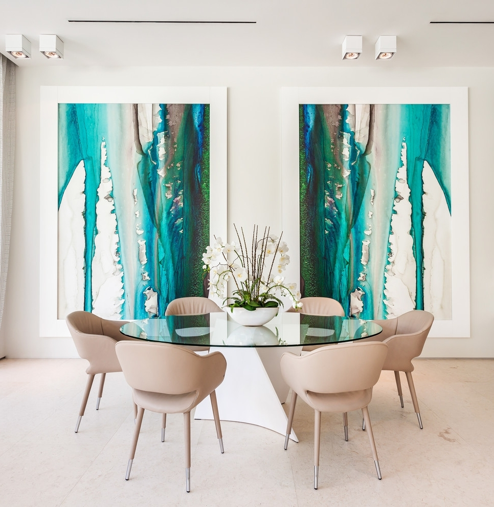 Modern Wall Art For Dining Room With Regard To Latest Dining Room Wall Art Dining Room Contemporary With Timber Table (View 15 of 15)