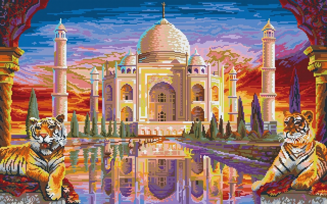 Mosaic Art Kits For Adults With Regard To Fashionable Mahal – 32 Baseplate Pixelhobby Mini Mosaic Art Kit (View 8 of 15)