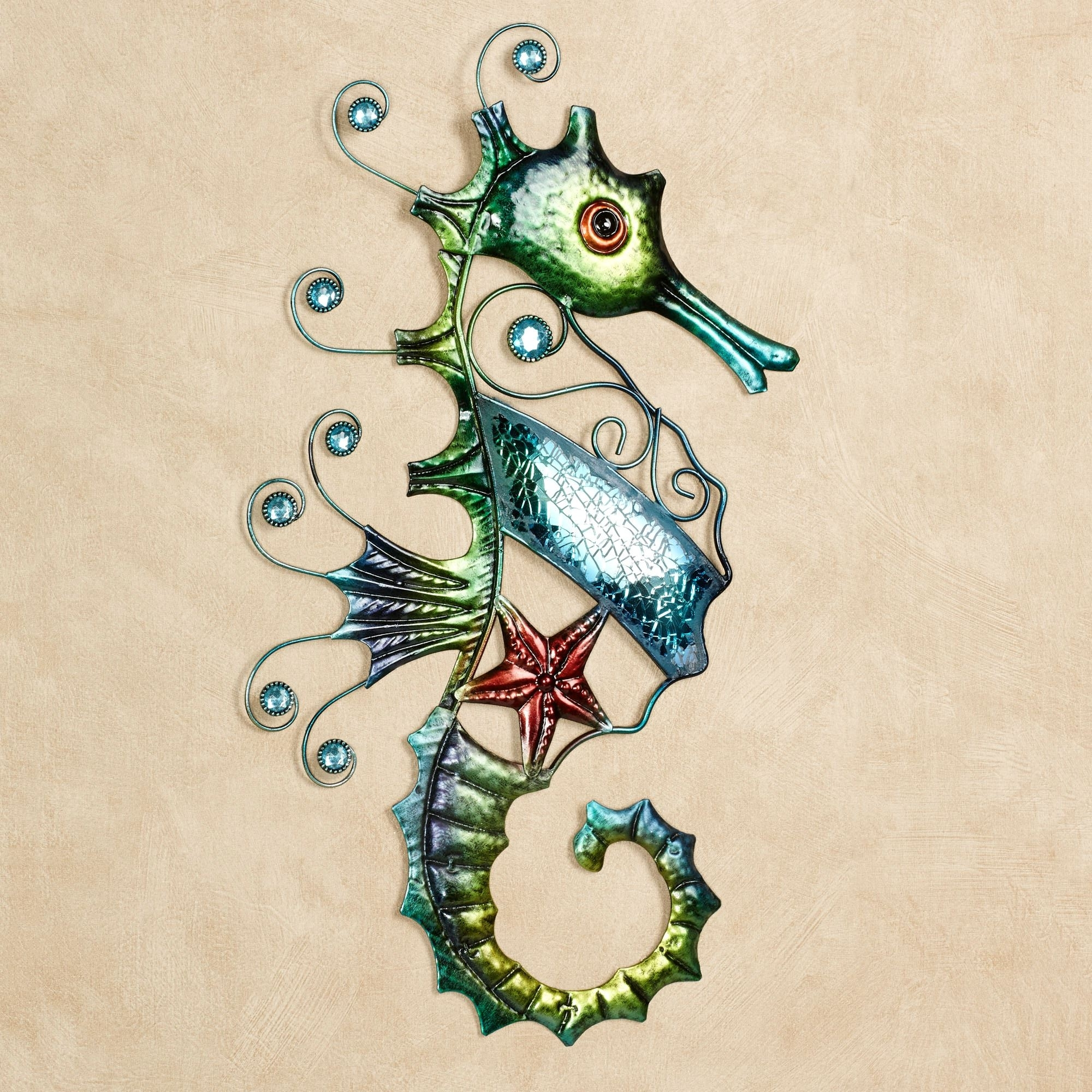 Mosaic Seahorse Metal Wall Art With Regard To Fashionable Sea Horse Wall Art (View 3 of 15)