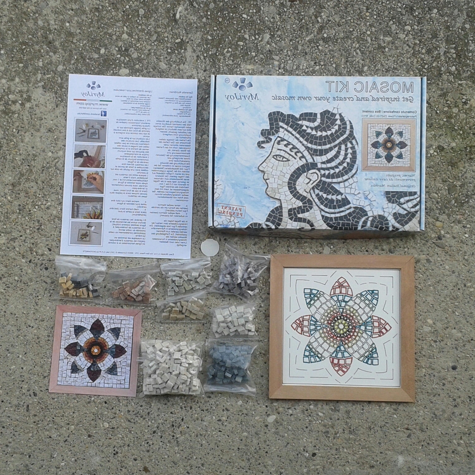 Mosaic Wall Art Kits Pertaining To Well Known Diy Roman Mosaics Kit For Adults Pomegranate Flower Marble Mosaic (View 9 of 15)