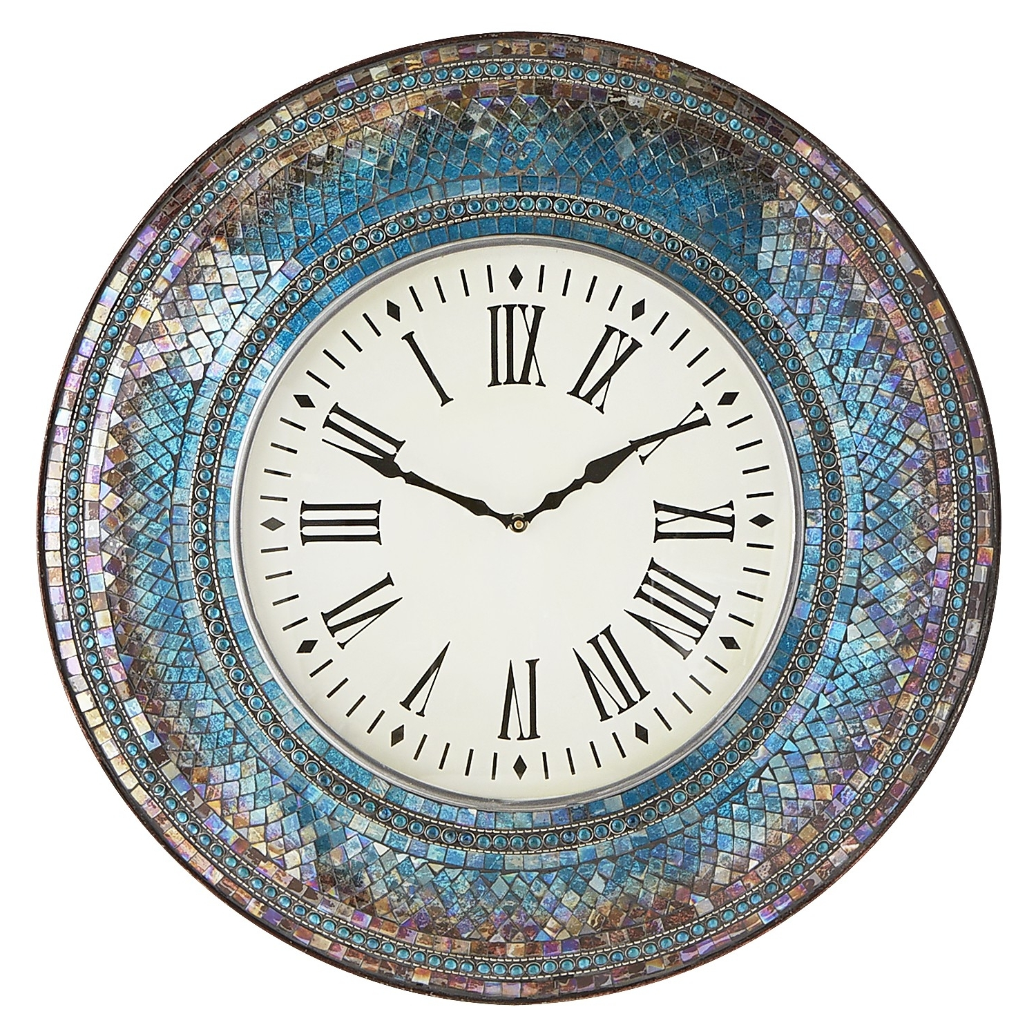 Mosaic Wall, Wall Clocks And Clocks Pertaining To Midnight Italian Plates Wall Art (View 7 of 15)