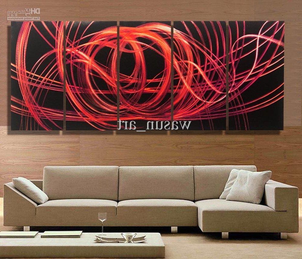 Most Current 2018 Modern Contemporary Abstract Painting,metal Wall Art Intended For Modern Abstract Wall Art (View 2 of 15)