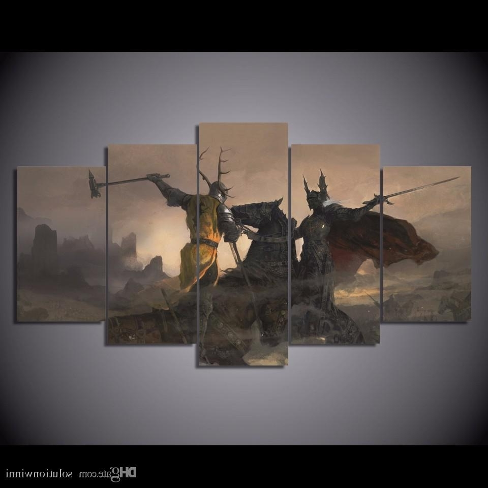 Most Current 2018 Printed Game Of Thrones Painting Canvas Print Room Decor For Dinosaur Canvas Wall Art (View 6 of 15)