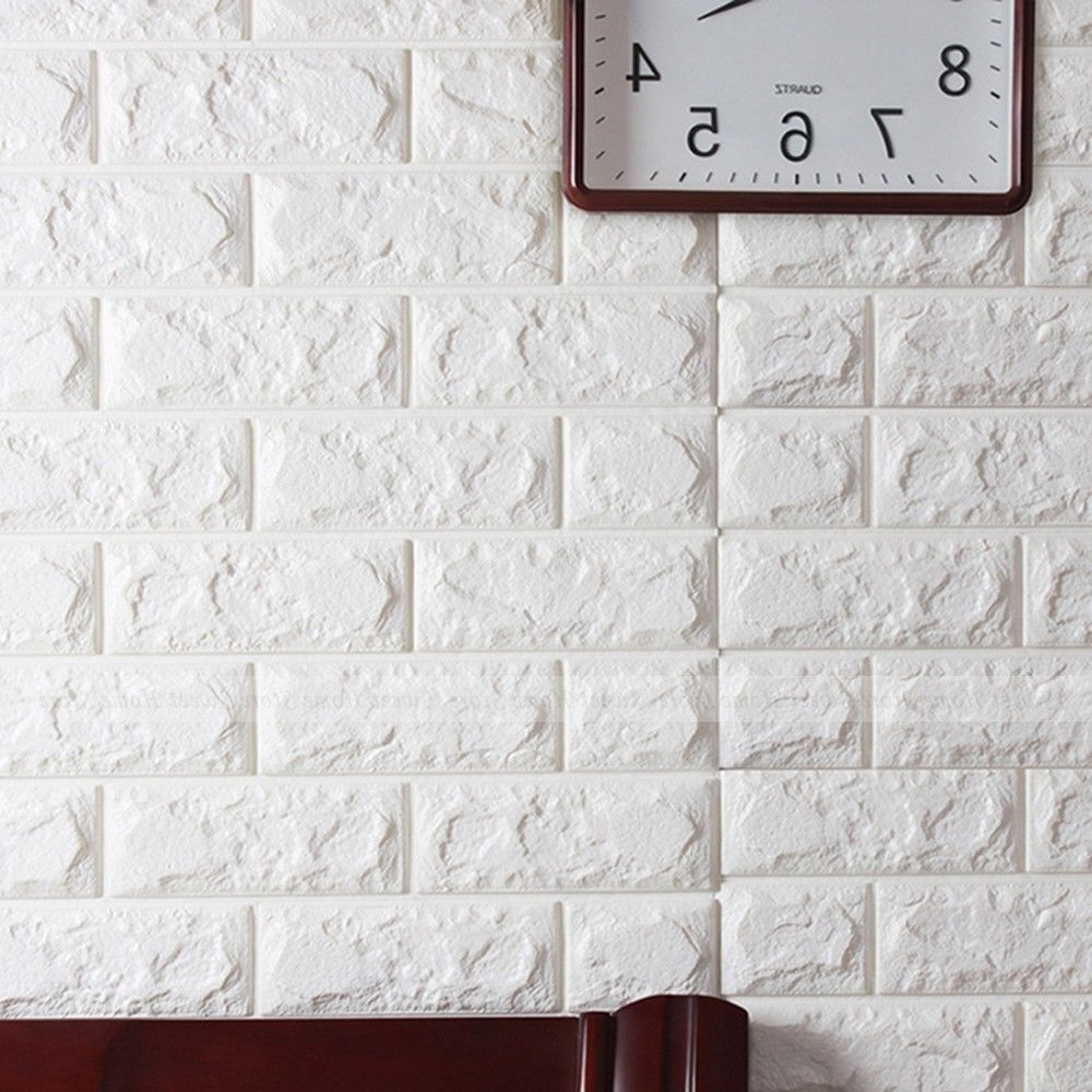 Most Current 3d Brick Pattern Wallpaper Modern Wall Background Tv Bedroom With 3d Little Brown Pony Wall Art Decor (View 13 of 15)