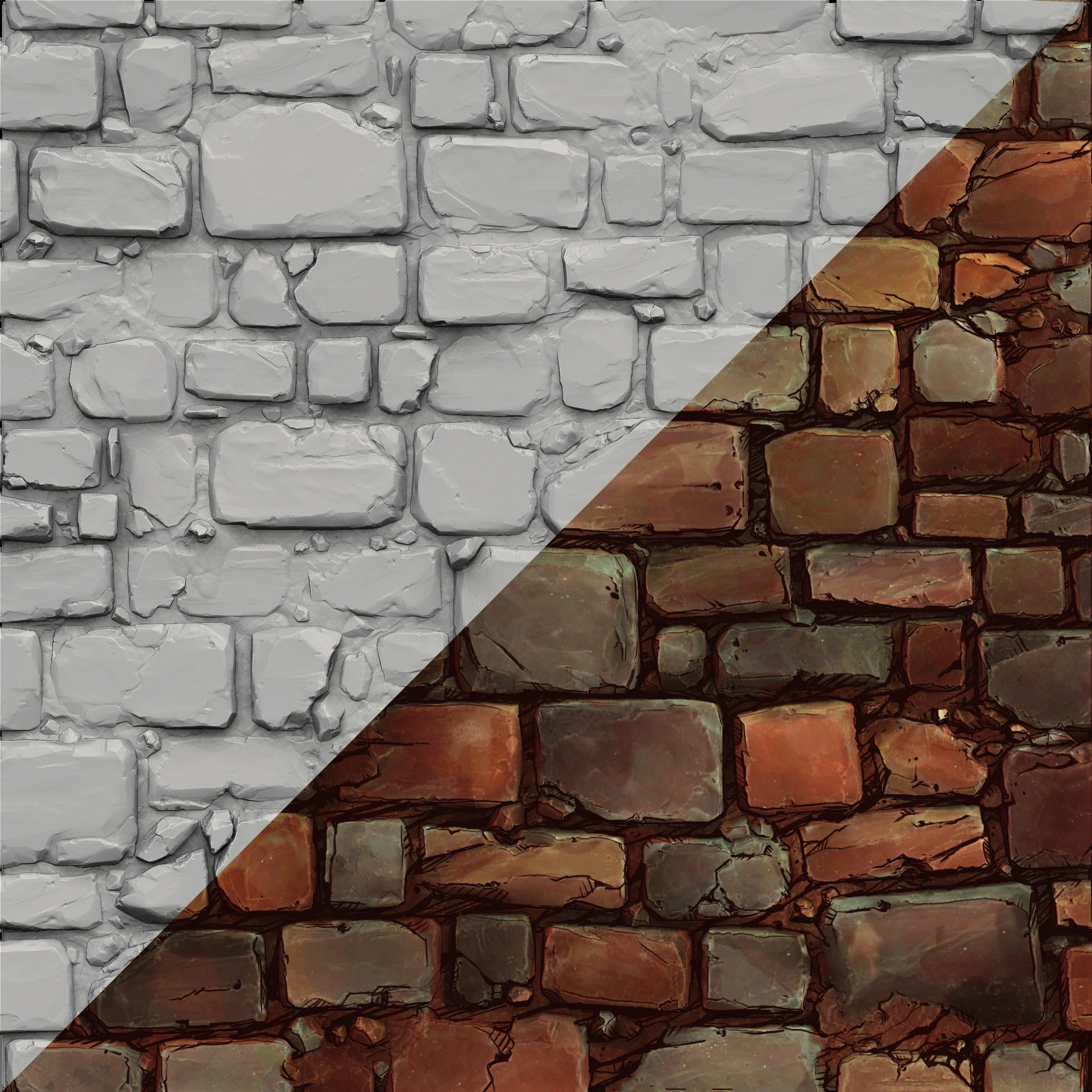 Most Current 3d Brick Wall Art Within Artstation – Brick Wall Sculpt And Comic Style Texture, Jesse (View 9 of 15)