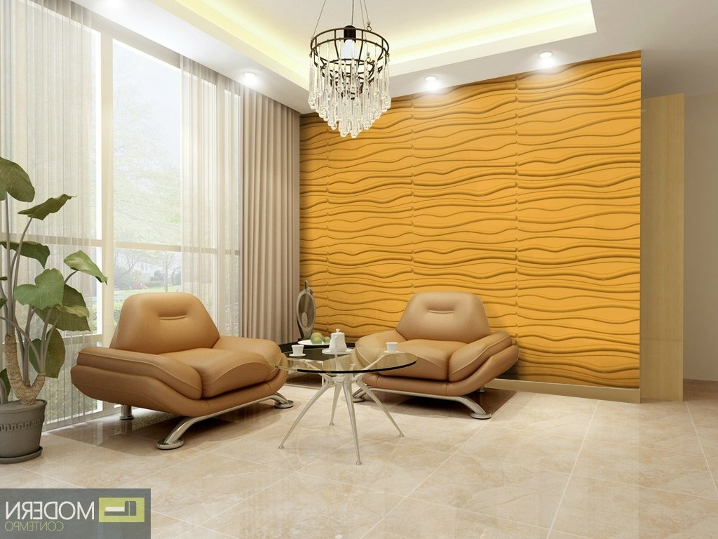 Most Current 3D Wall Art For Living Room Inside Breeze  Textured High Grade Polymer Glue On Wall 3D Tiles (View 12 of 15)