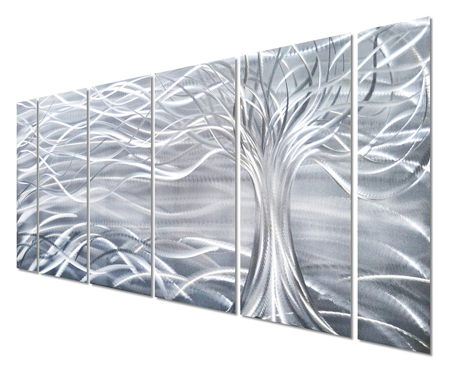 Most Current Abstract Aluminium Wall Art In Amazon: Pure Art Willow Tree Of Life Metal Wall Art, Abstract (View 8 of 15)