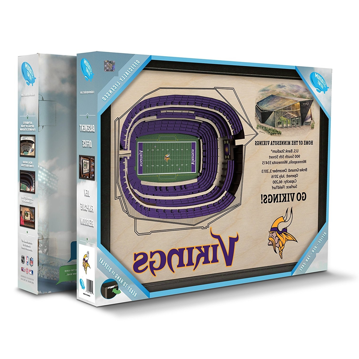 Most Current Amazon: Sportula Products 9026136 Stadiumviews Minnesota With Regard To 3D Stadium View Wall Art (View 7 of 15)