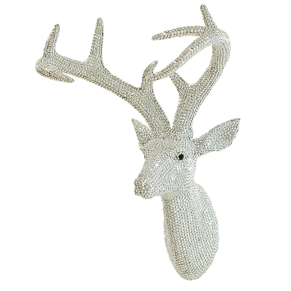 Most Current Arthouse Star Studded Stag Head Diamante Deer Mountable Wall Art In Stags Head Wall Art (View 12 of 15)