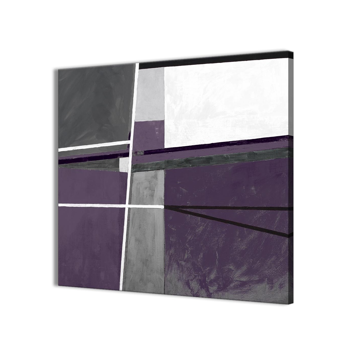 Most Current Aubergine Wall Art Within Aubergine Grey Painting Kitchen Canvas Wall Art Decor – Abstract (View 11 of 15)