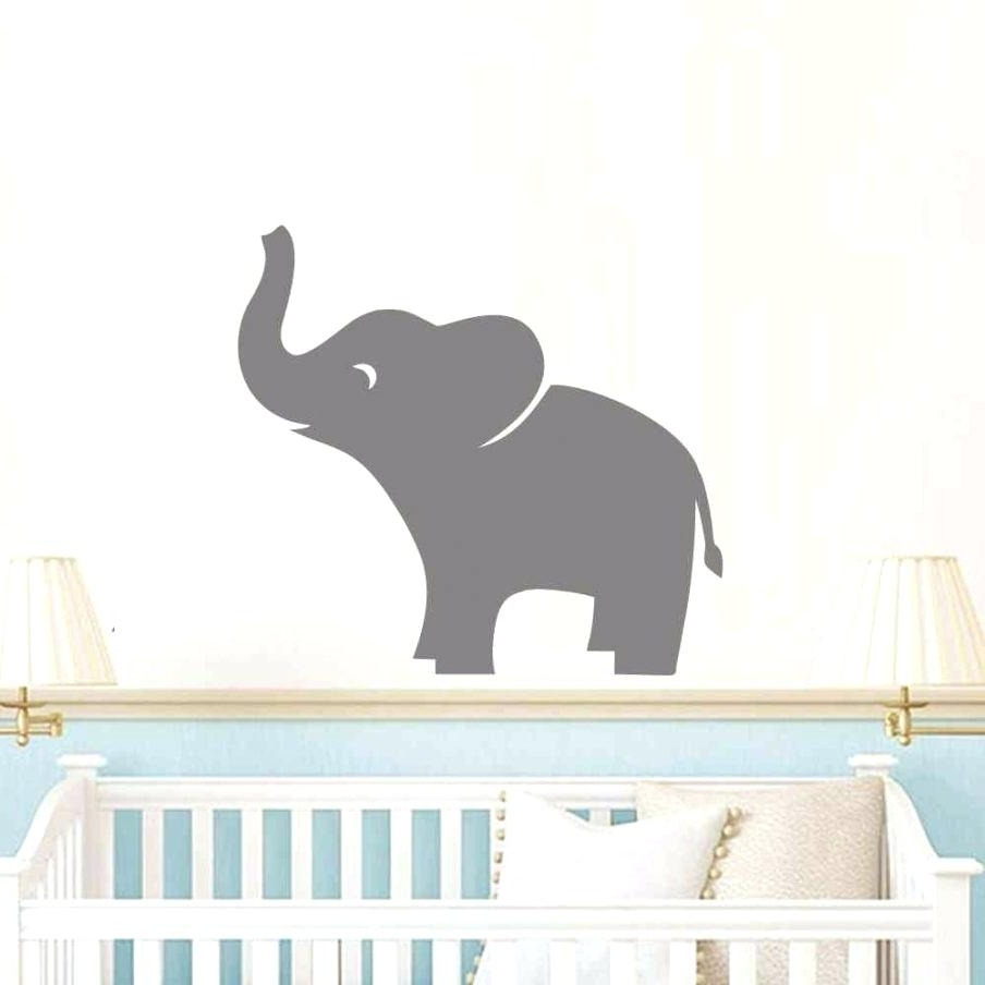 Most Current Baby Elephant Wall Decals Chic Baby Elephant Nursery Wall Art Pertaining To Elephant Wall Art For Nursery (View 10 of 15)