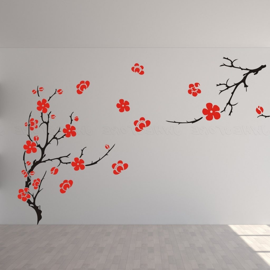Most Current Baby Nursery ~ Lovable Images Cherry Blossom Wall Decal Decor Art Regarding Red Cherry Blossom Wall Art (View 8 of 15)