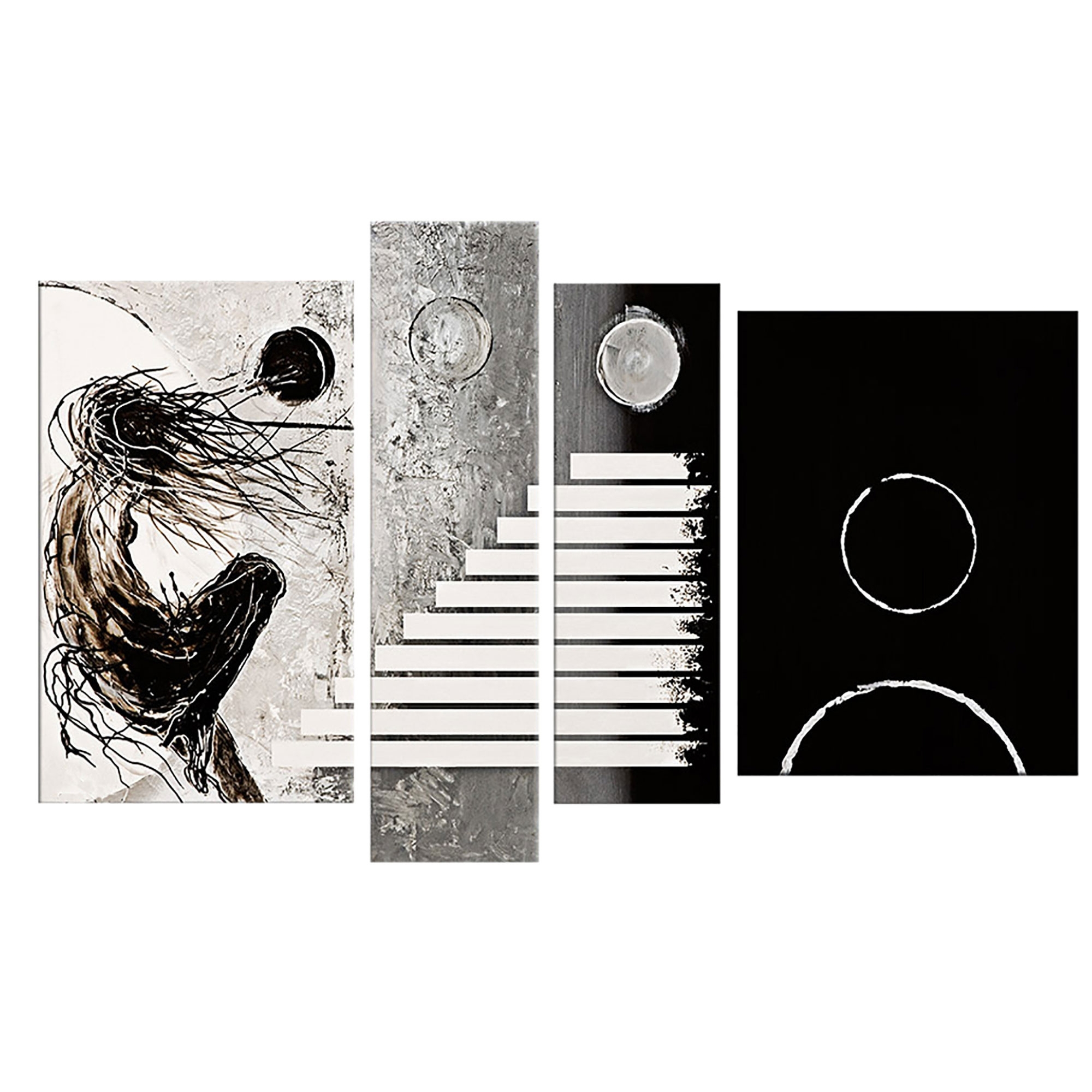 Most Current Black And White Abstract Wall Art With Regard To Description – Why Accent Canvas? This Exquisite Black & White (View 2 of 15)