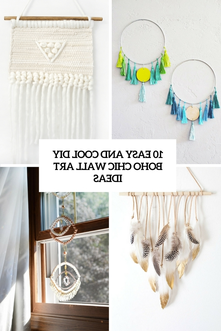 Most Current Boho Chic Wall Art Inside 10 Easy And Cool Diy Boho Chic Wall Art Ideas – Shelterness (View 7 of 15)