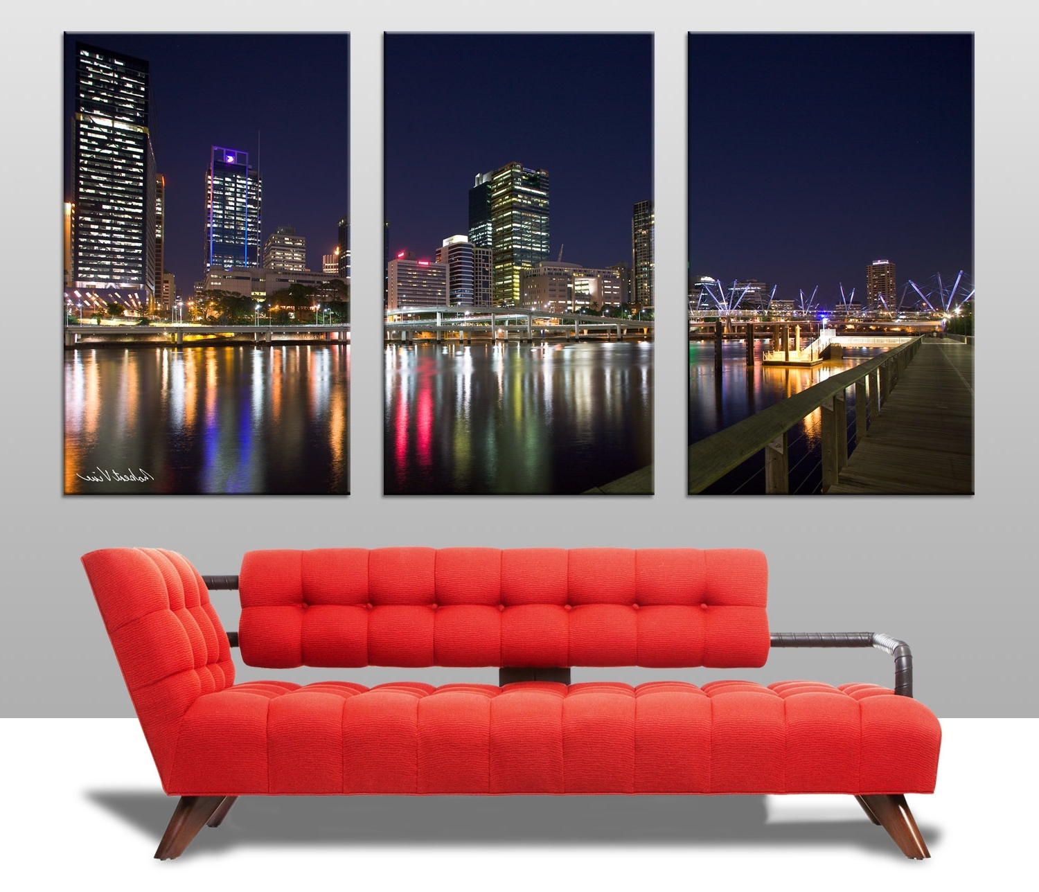 Most Current Brisbane Abstract Wall Art For Brisbane Triptych Wall Art On Canvas (View 3 of 15)