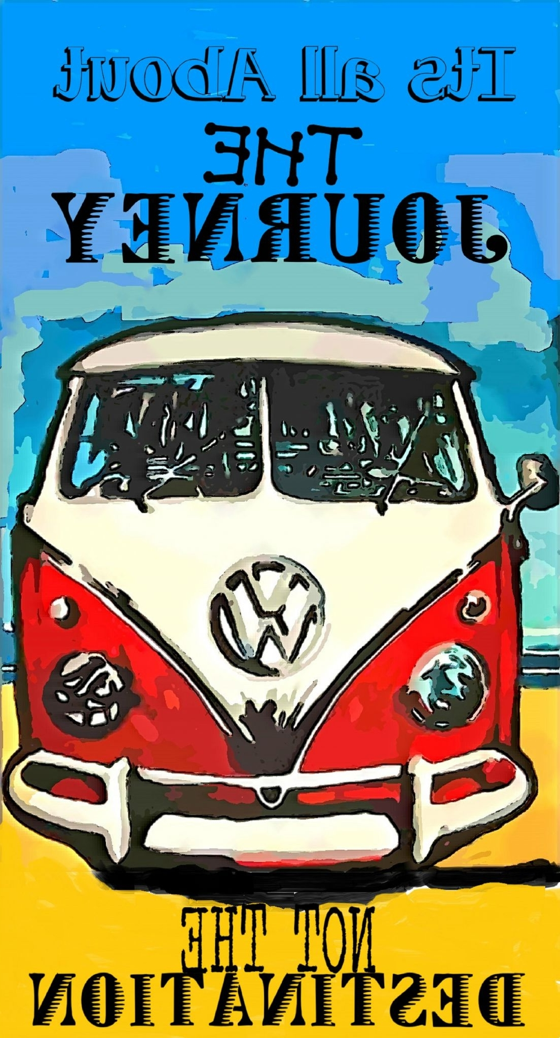 Most Current Campervan Metal Wall Art Inside Pop Art Vw Camper Inspirational Quote Vintage Style Metal Wall Plaque (View 8 of 15)