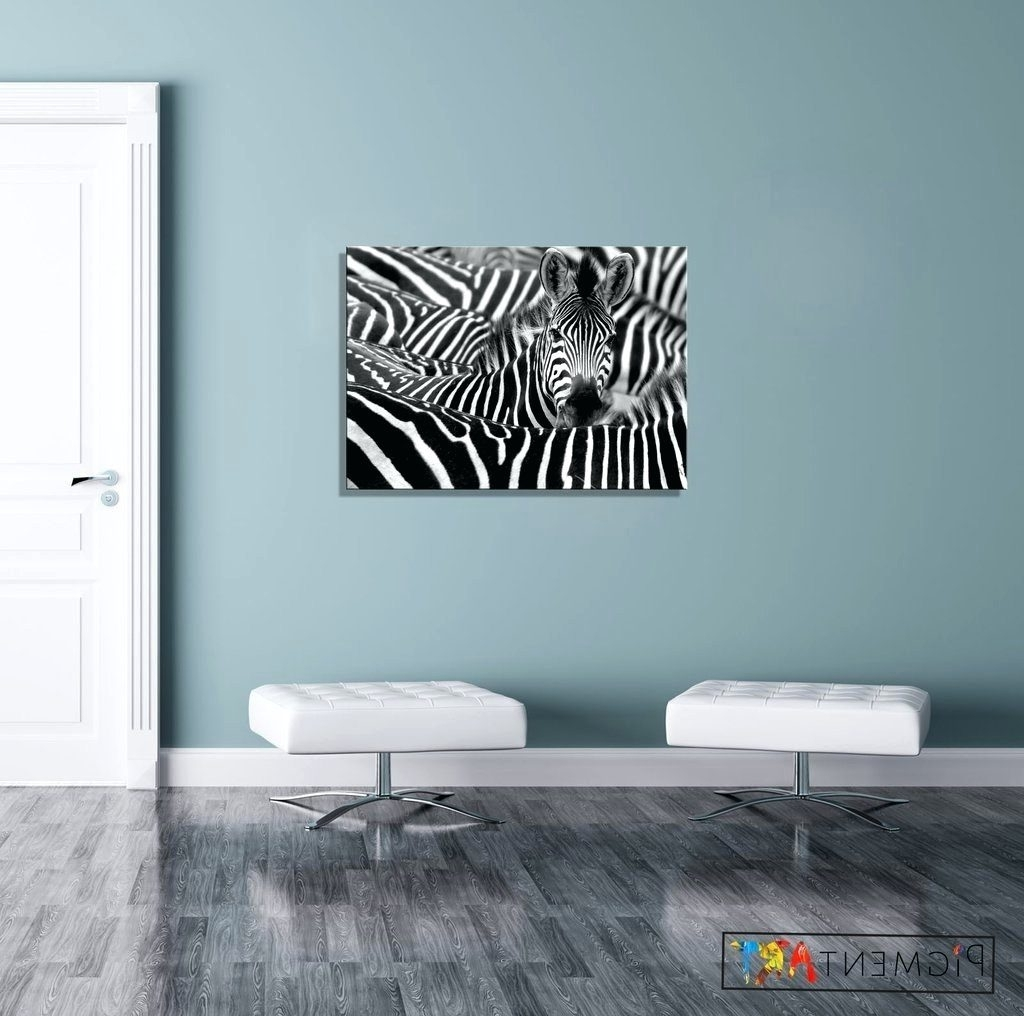 Most Current Cheap Black And White Wall Art With Wall Arts ~ Black White Zebra Animal Abstract Canvas Art Canvas (View 10 of 15)
