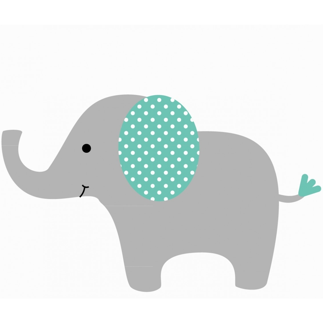 Most Current Customizable Elephant Wall Decal For Nursery Or Baby Room With Elephant Wall Art For Nursery (View 11 of 15)