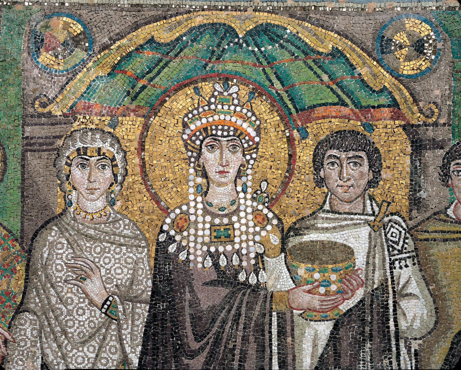 Most Current Empress Theodora, Detail Of A Wall Mosaic, 6Th Century, Church Of Pertaining To Italian Mosaic Wall Art (View 7 of 15)