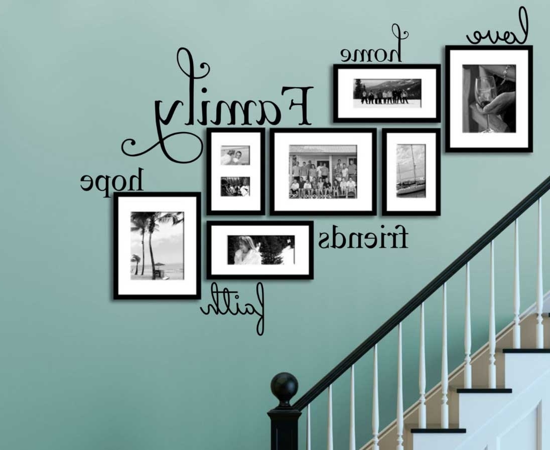 Most Current Family Photo Wall Art With Regard To Faith Family Friends Wall Art On Turquoise Wall Ideas (View 10 of 15)