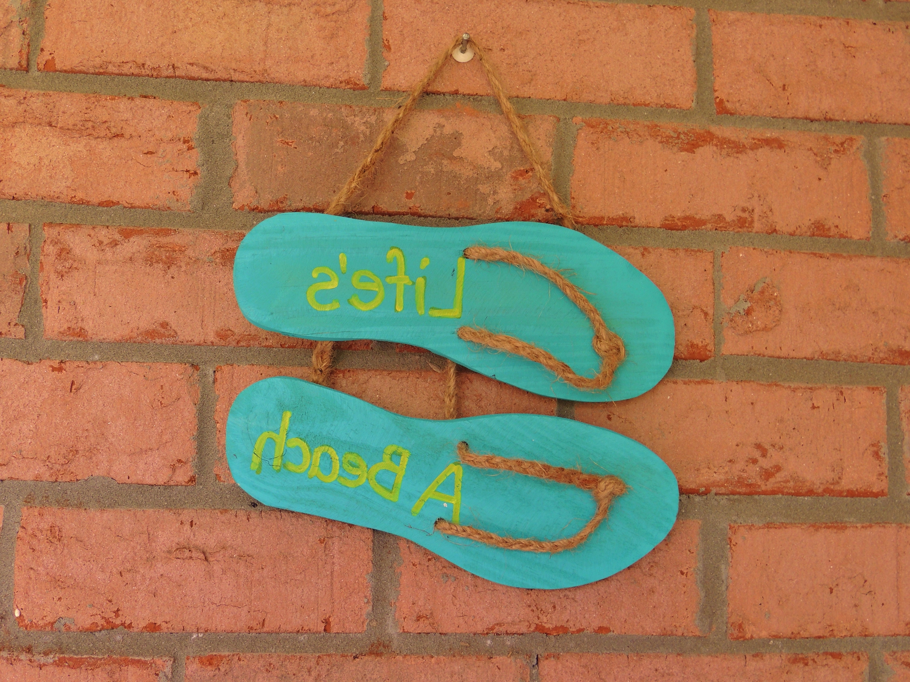 Most Current Flip Flop Wall Art With Regard To Flip Flop Items For House Wholesale Wooden Flip Flop Wall – Flip (View 12 of 15)