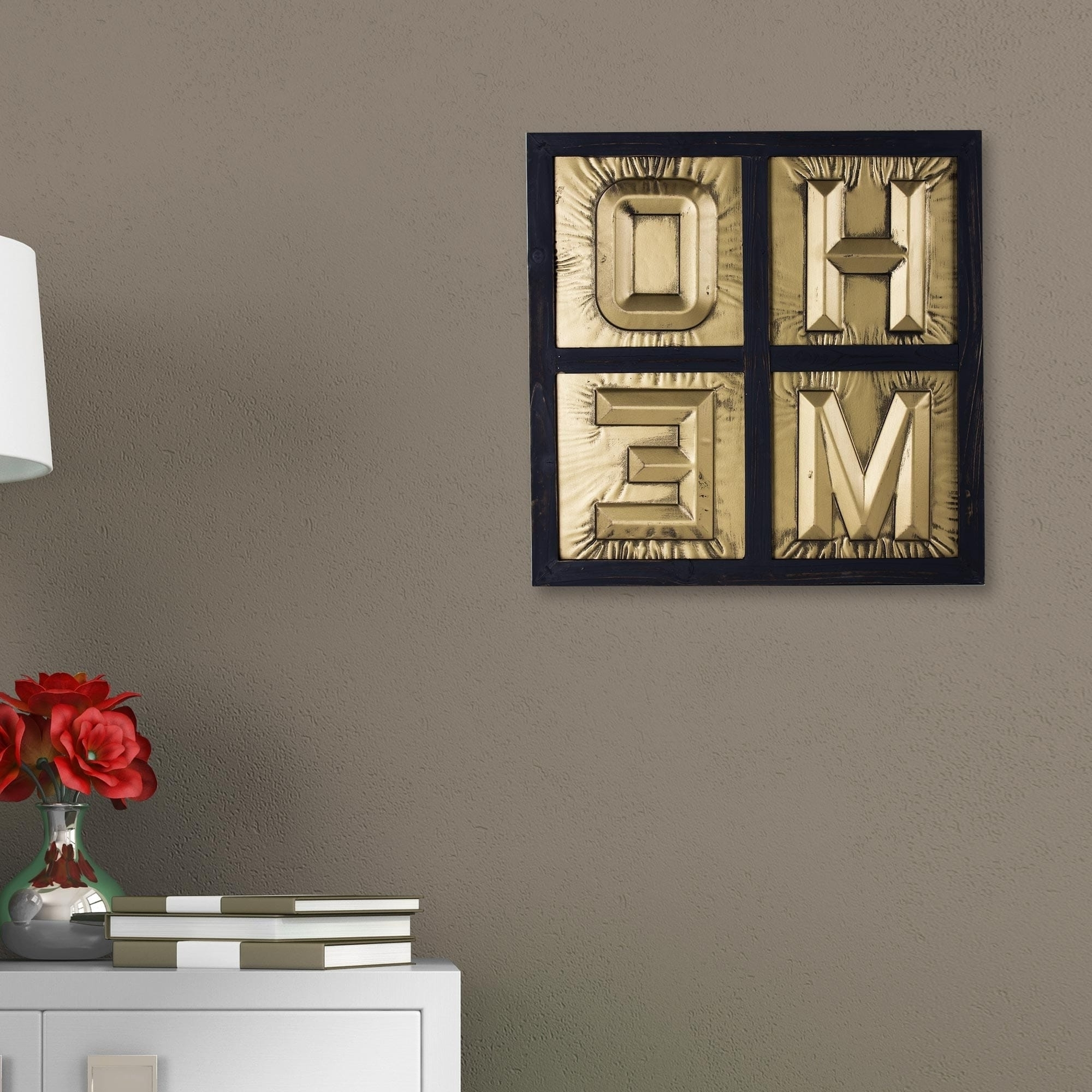 Most Current Framed 3D Wall Art For Home Sign 3D Gold Metal Block Letters Framed Wall Art Decor – Free (View 12 of 15)