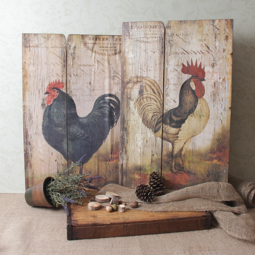 Most Current French Country Rooster Decor Gorgeous Wall Art Plaque Panel Throughout Country French Wall Art (View 10 of 15)
