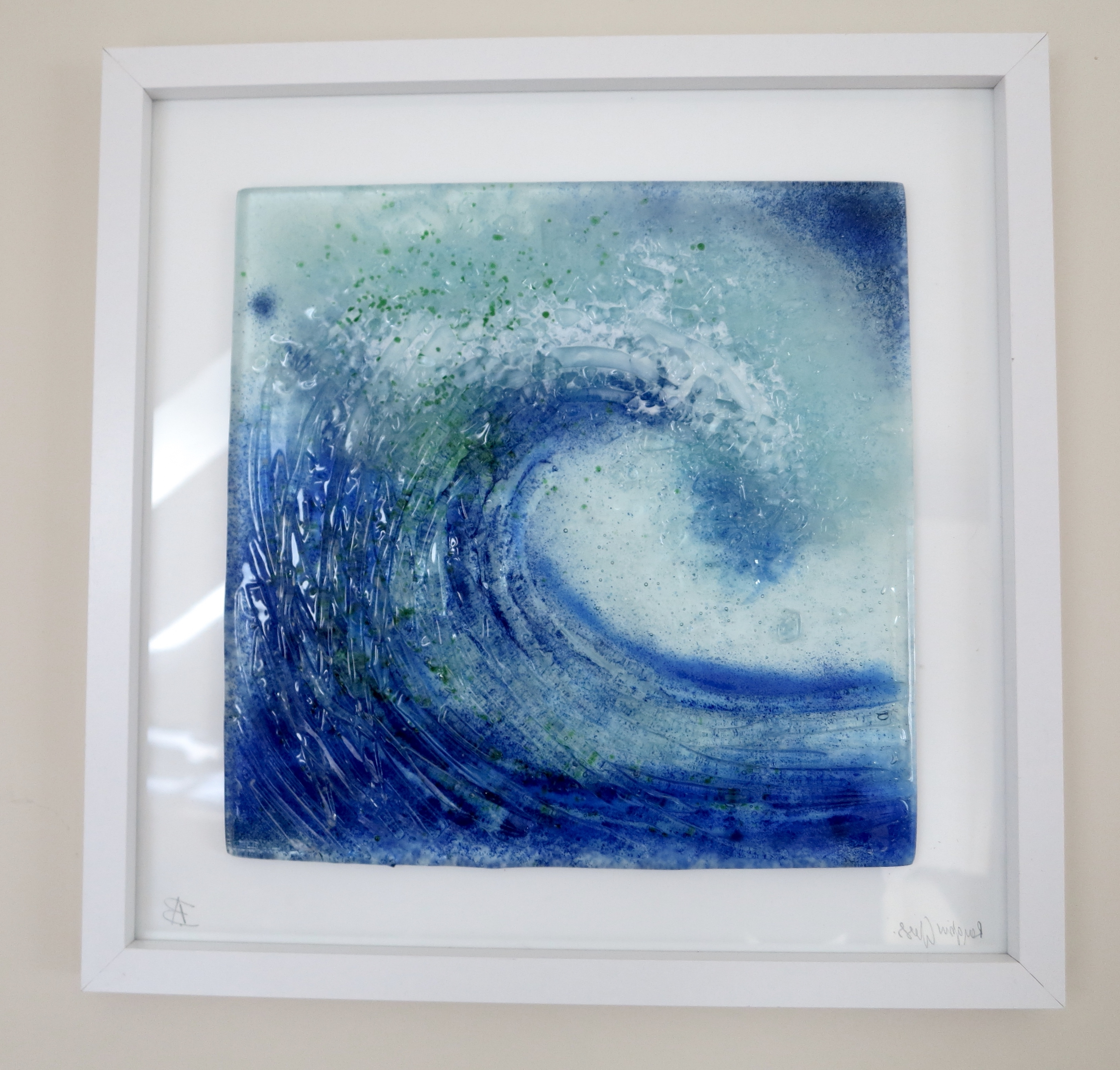 Most Current Fused Glass Wave Created From Clear Glass Using Frits And Enamels In Fused Glass Wall Art Manchester (View 11 of 15)