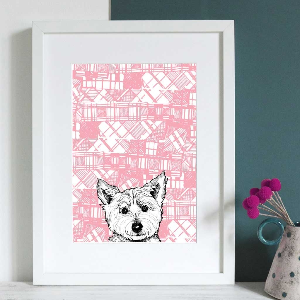 Most Current Gillian Kyle Scottish Wall Art Tartan Westie Canvas Print Throughout Westie Wall Art (View 3 of 15)