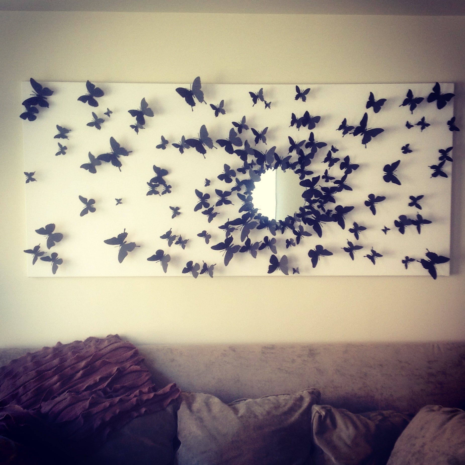 Most Current Gossip Girl Inspired Butterfly Wall Art! Finally Finished Pertaining To Diy 3D Wall Art Butterflies (View 10 of 15)