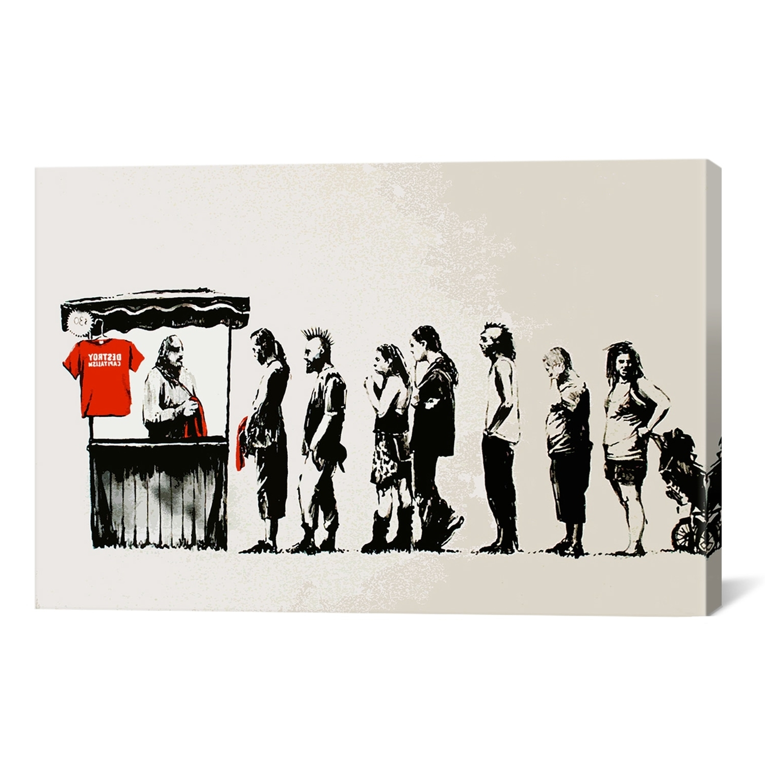 Most Current Icanvas Banksy Destroy Capitalism Canvas Print Wall Art – Walmart Intended For Banksy Wall Art Canvas (View 12 of 15)