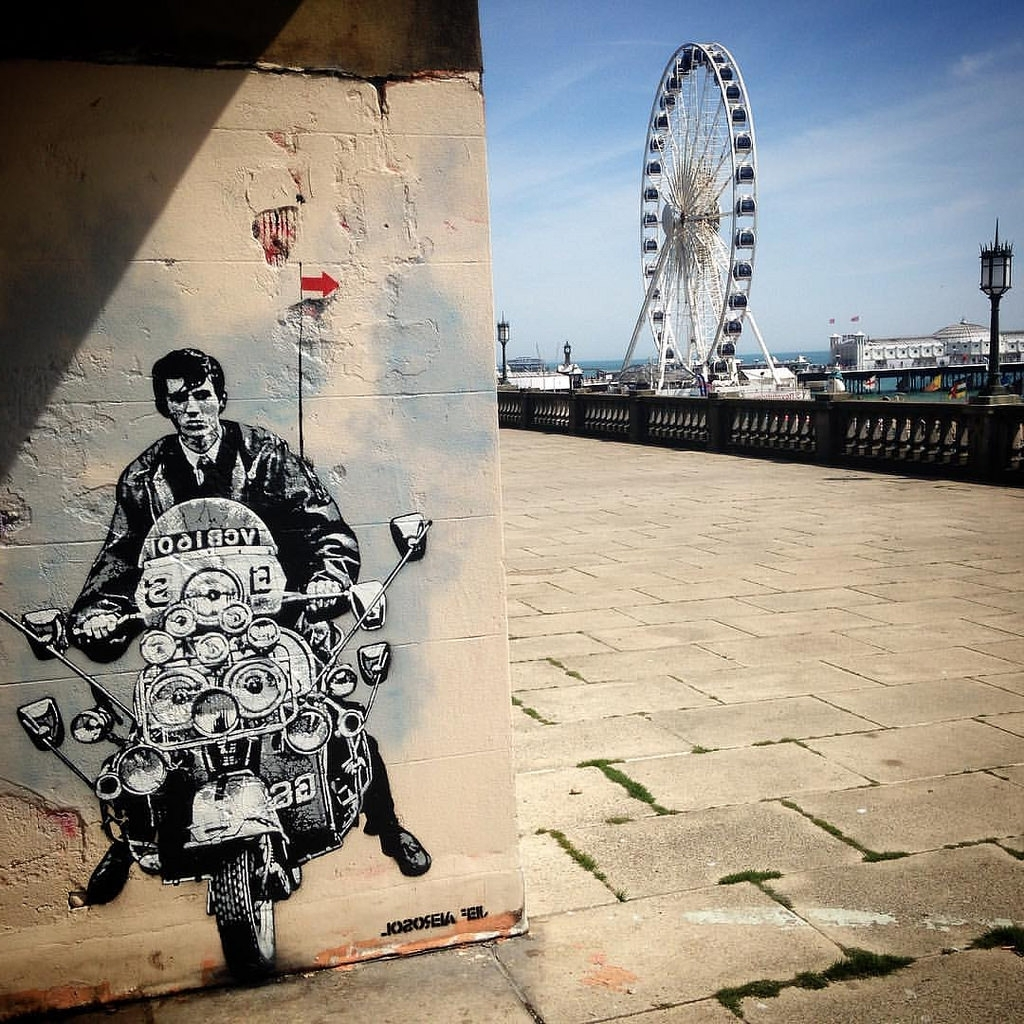 Most Current Jef Aerosol : Quadrophenia, Brighton, May 2016 #jefaerosol With Quadrophenia Wall Art (View 9 of 15)